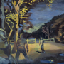 """Group at Night, 2015<br> oil on canvas<br> 29"""" x 31"""""""