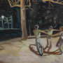 """Ring Around, 2015<br>oil on canvas<br>29"""" x 30"""""""